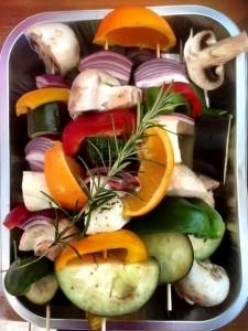 Yorkshire - veggie skewers